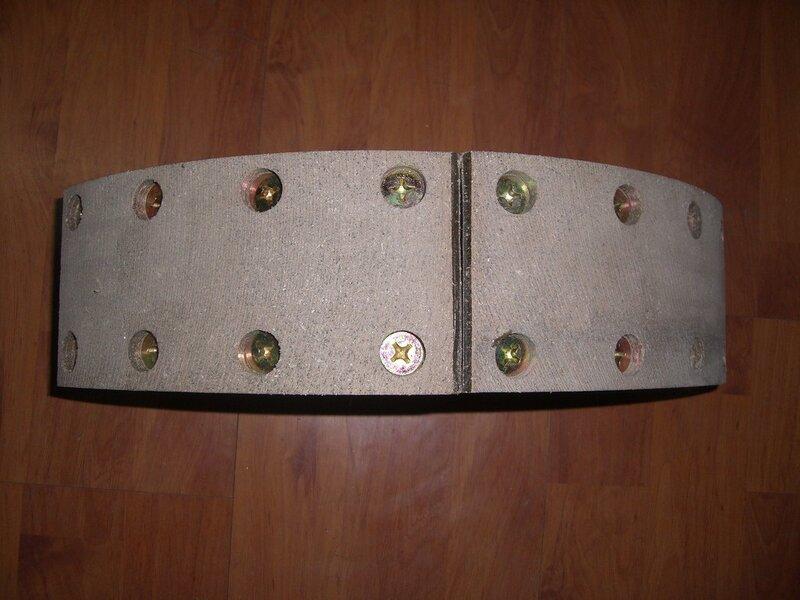 Колодка стояночного тормоза с накладками 7555-3507015