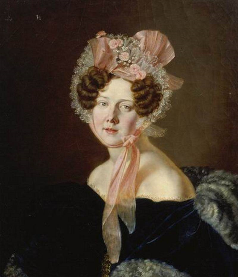 э Anthelme Francois Lagrenée - Damenbildnis mit Rüschenhut..jpg