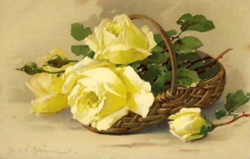 К. Кляйн. Розы в корзине.