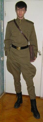 Лёша в военной форме