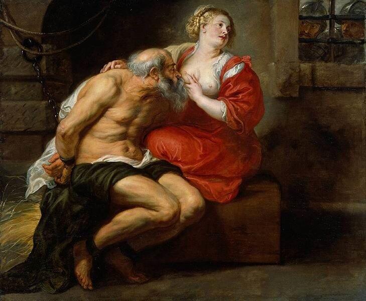 Питер Пауль Рубенс. Отцелюбие римлянки, 1630