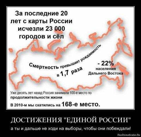 За последние 20 лет с карты России исчезли 23 000 городов и сёл.