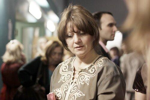 Воронова Лена на съёмках Огонька РТР декабрь 2011
