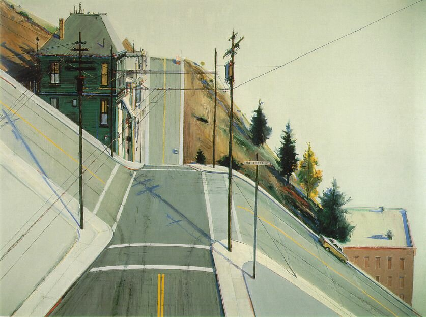 Wayne Thiebaud  24th Street Intersection,1920