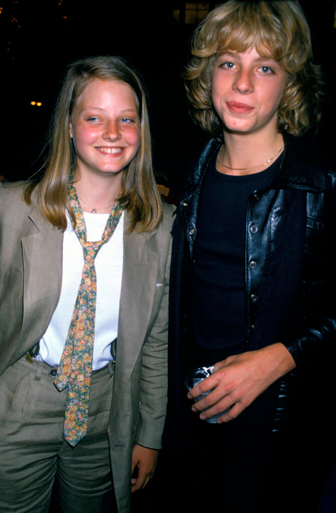 very young Jodi Foster and Leif Garrett at the Grease party in 1978