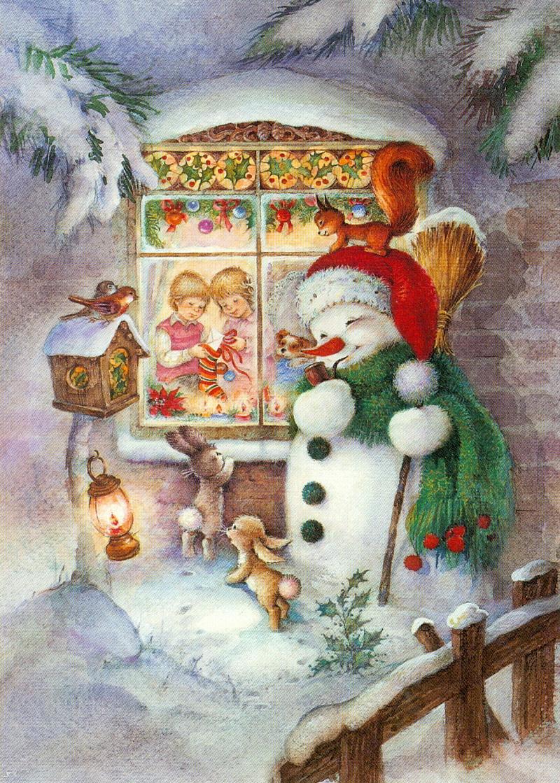 Снегурочка на старых открытках фото