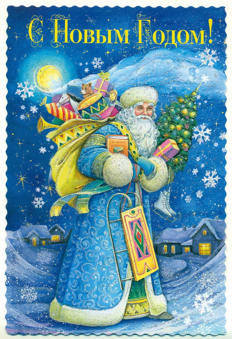 Новогодние открытки на телефон