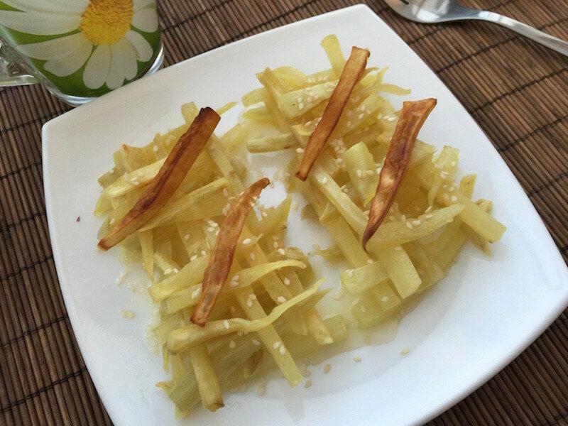 Сладкий картофель в кисло-сладком соусе