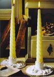 В АЛЬБОМЕ Наташи Podarok чудесная подборка вязаных свечей и подсвечников со схемами.