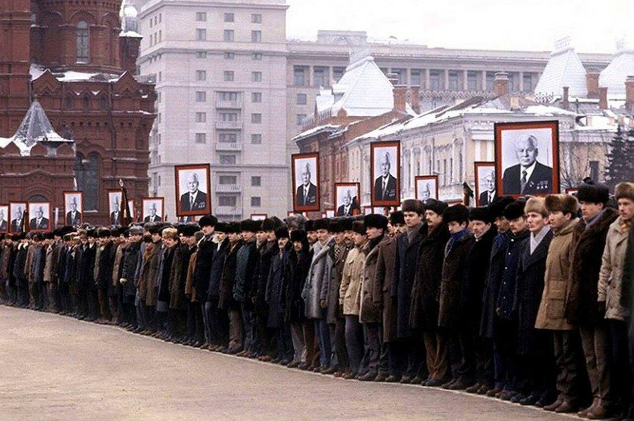1985. Похороны Константина Черненко. Москва