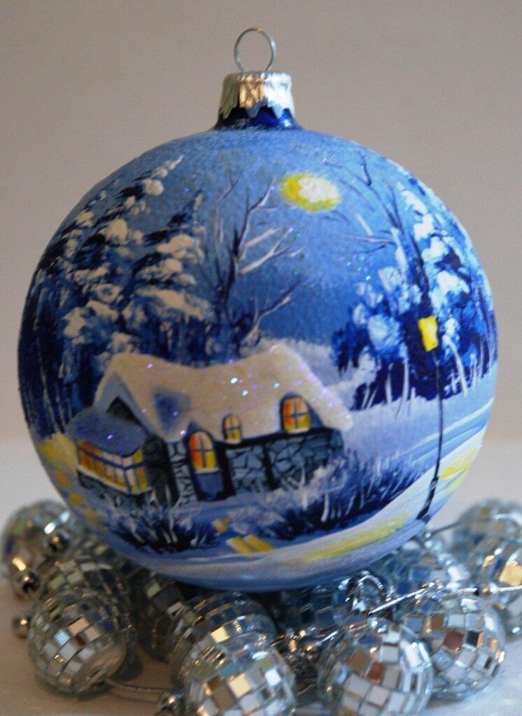 Разукрасить елочные шары своими руками