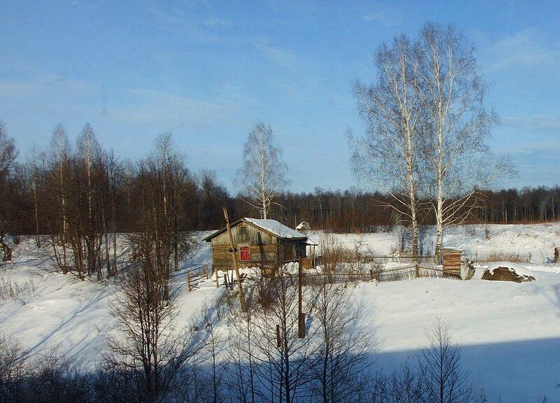 Южный Урал, фото из окна поезда.