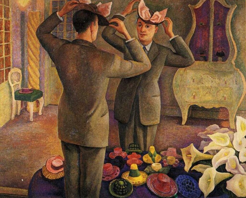 The Milliner. Potrait of Henri de Chatillon. 1944. by Diego Rivera