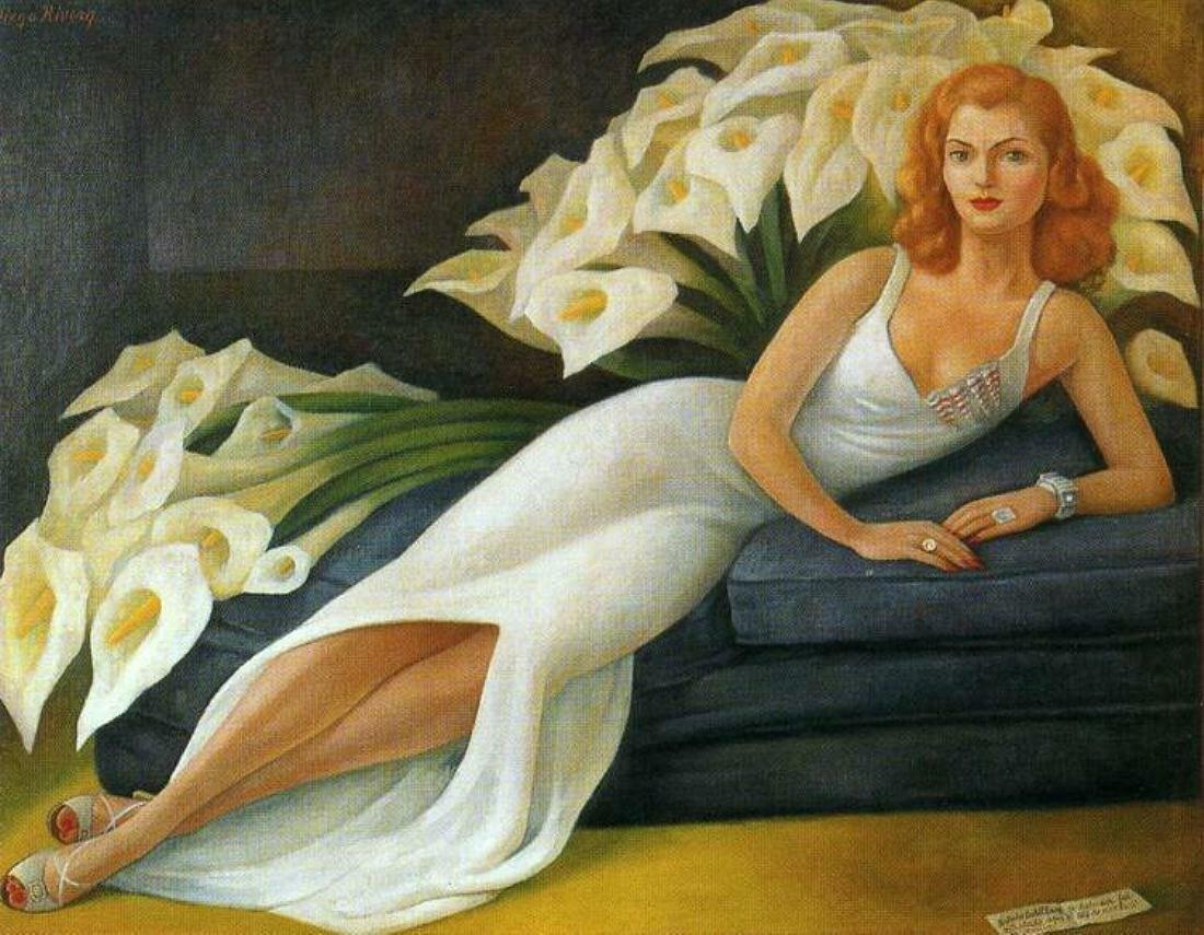 Portrait of Natasha Zakolkowa Gelman.1943. Diego Rivera.
