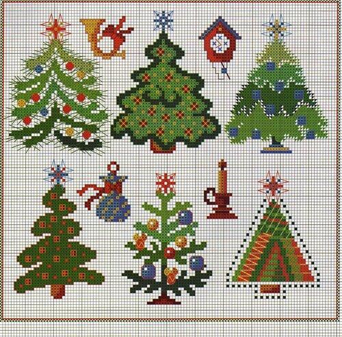 """Вышивка крестиком.Схема  """"Снегурочка """".  Часть 1. Часть 2. Point de croix.  Вышивка Рождественские миниатюры."""
