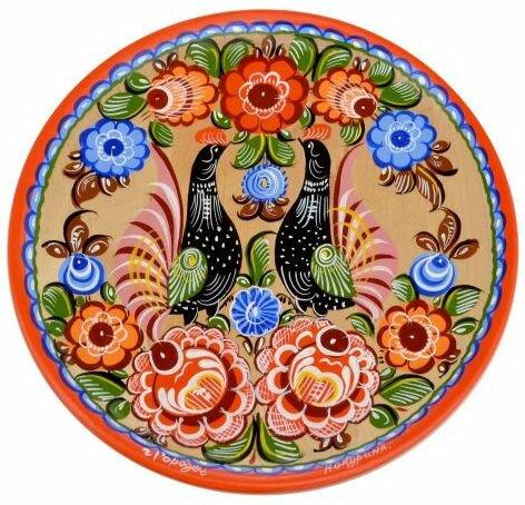 Фото цветов городецкой росписи