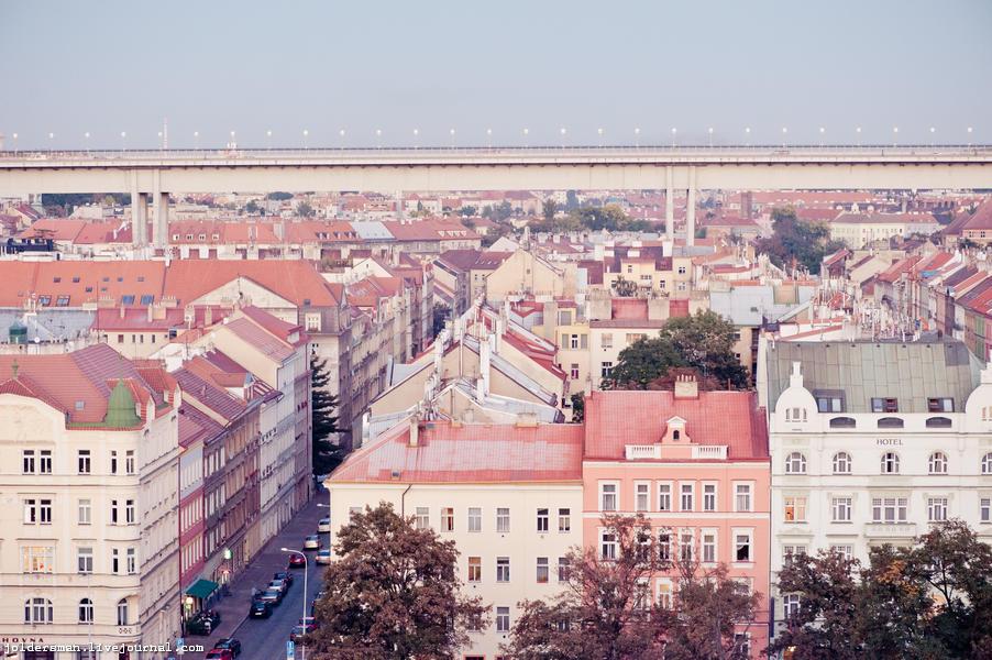 мост над городом. Прага. Вышеград
