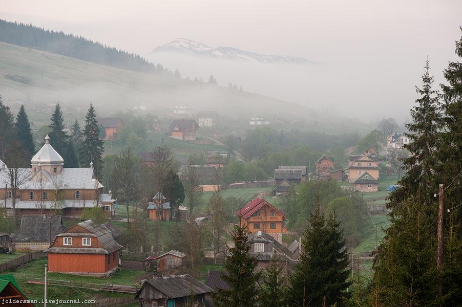 Карпаты деревня Яблуница