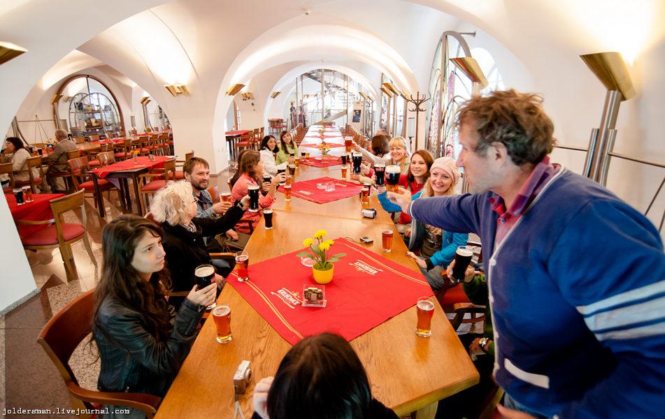 дегустационный зал на пивном заводе