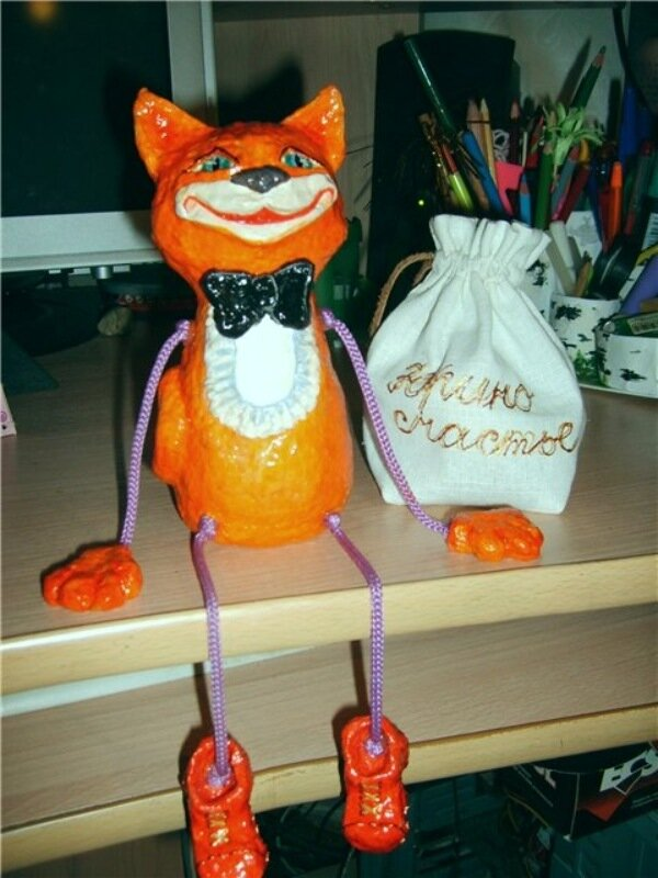 Кошка из папье маше своими руками
