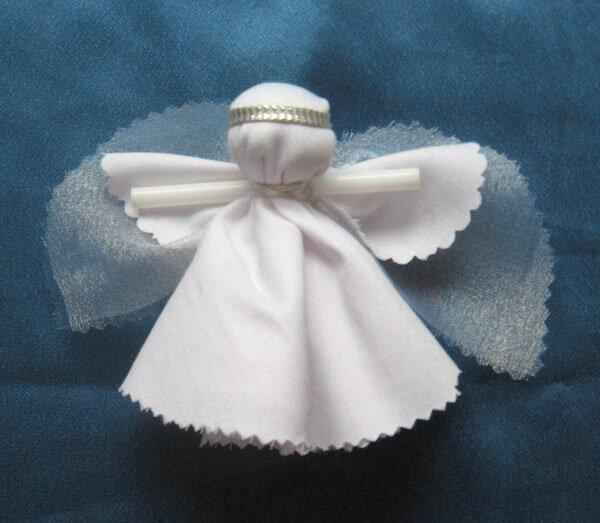 Как сделать ангела из ткани своими руками