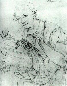 Кружевница. Этюд для одноименной картины. 1823.jpg