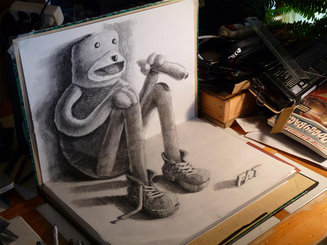 как нарисовать объемные рисунки из фото например