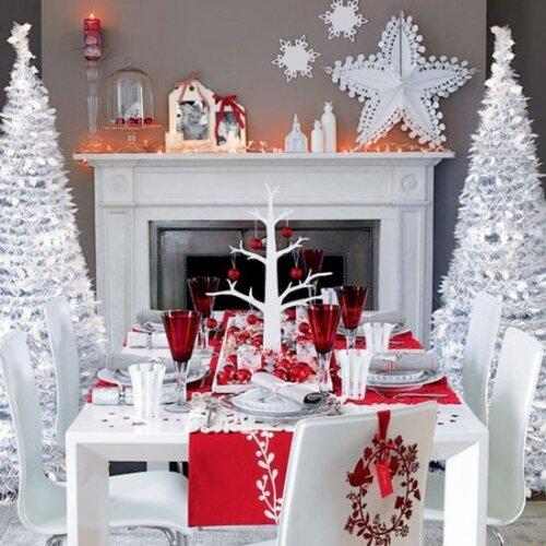 Красивый и оригинальный стол в новогоднюю ночь