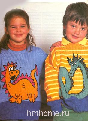 Детские пуловеры с драконами
