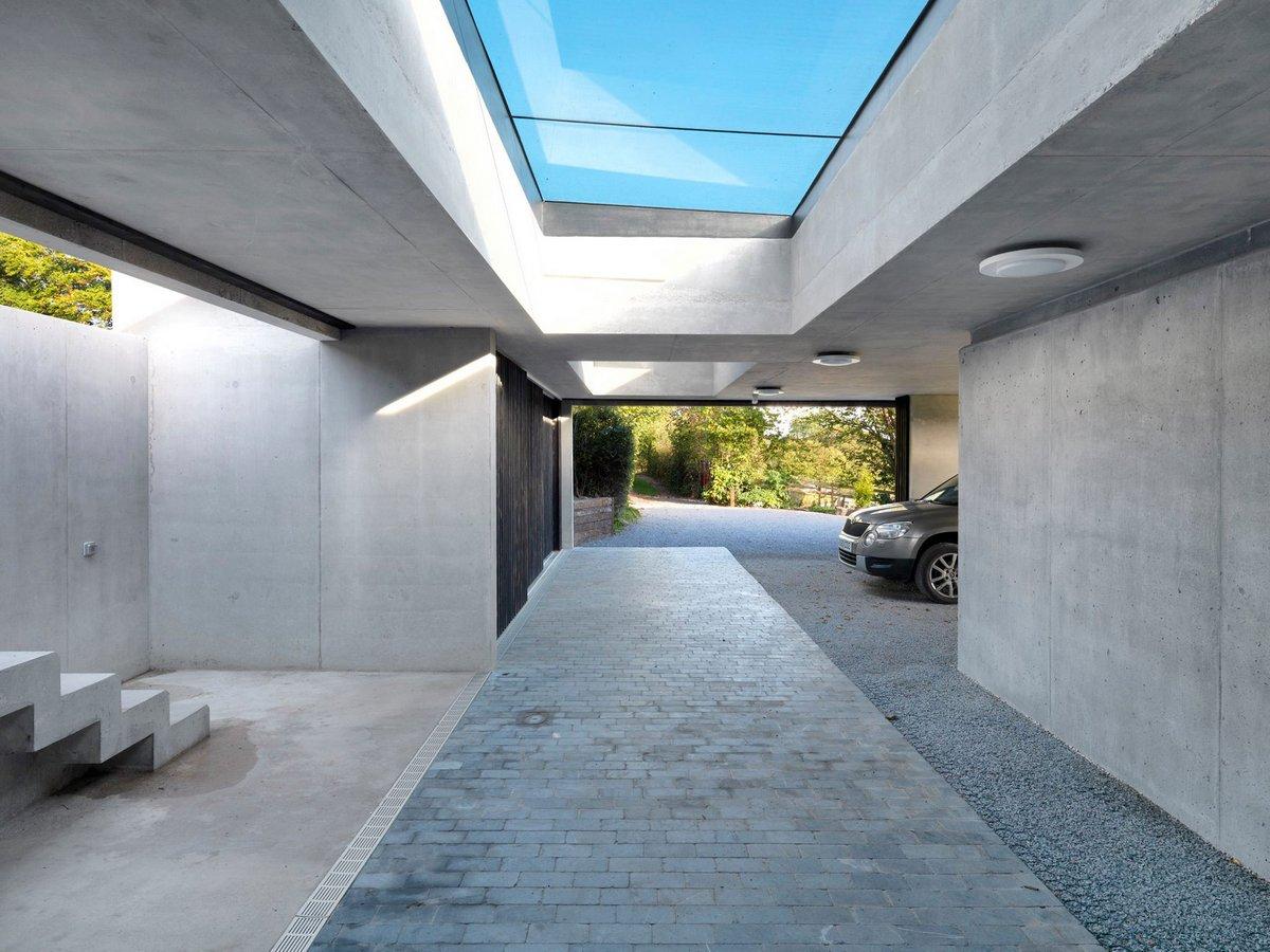 Стеклянная крыша в частном доме
