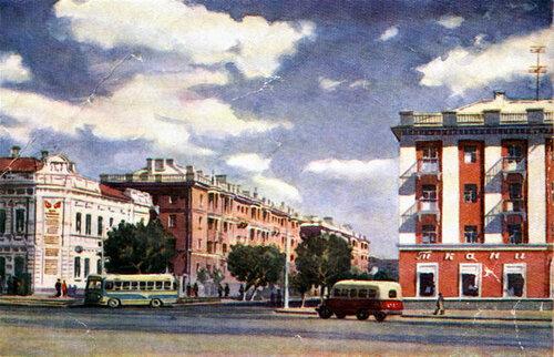 Белгород, центральная площадь, выход на пр.Ленина, 1960-е