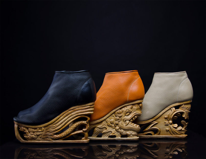 Pagoda Shoes by LanVy Nguyen