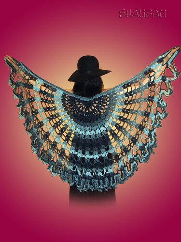Шаль «Голубая ёлка»