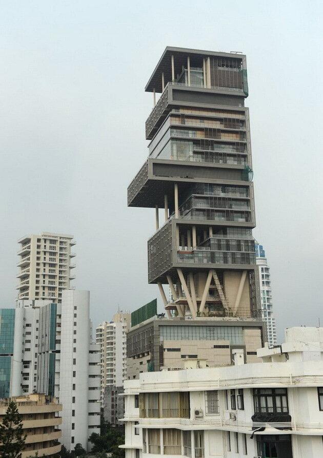 Резиденция Антилия (Antilia). Мумбаи, Индия