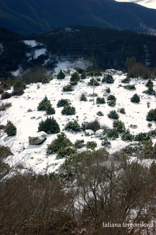 Зима в черногорских горах