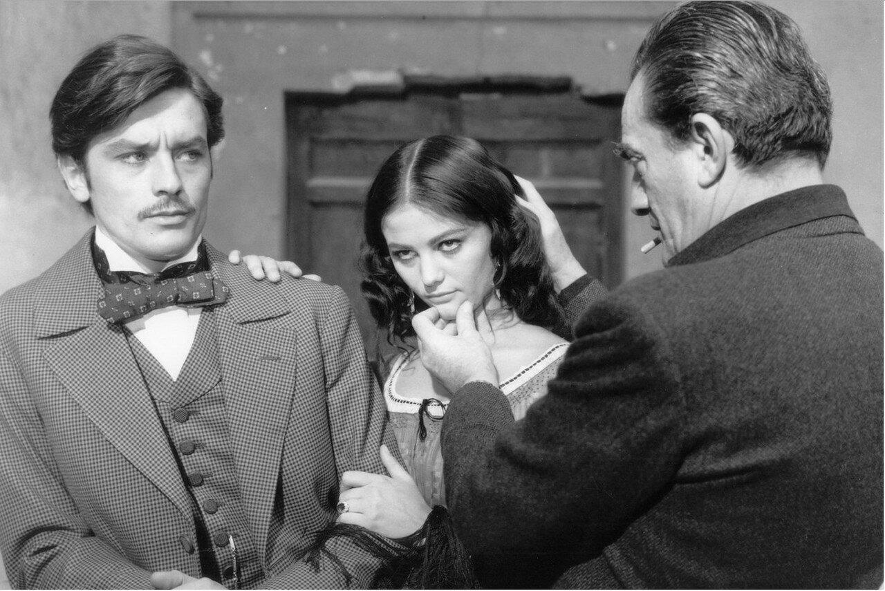 1962. С Клаудиа Кардинале и Лукино Висконти на съемках «Леопарда»