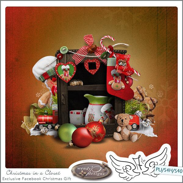 Скрап-набор Christmas in closet