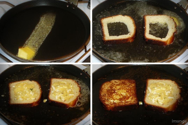 Как приготовить бутерброд на сковороде с яйцами