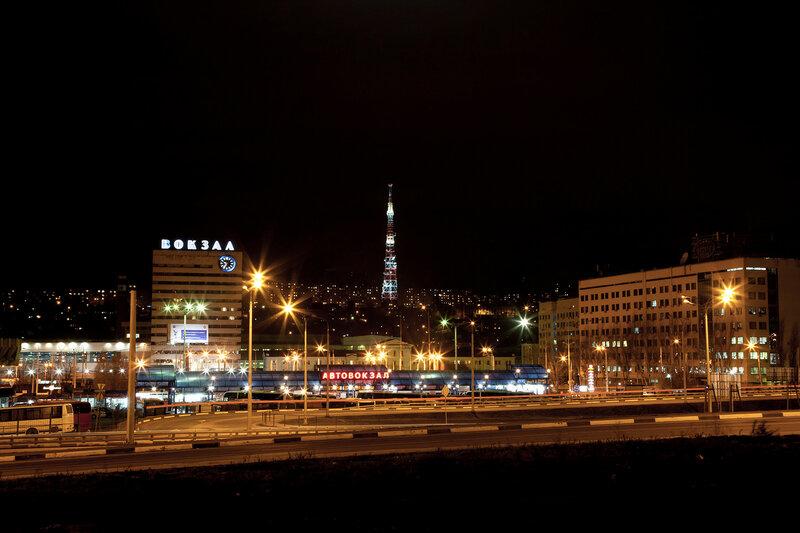 Ночной Ростов ( Два вокзала )