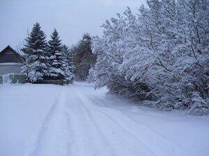 Дорога в центр деревни.