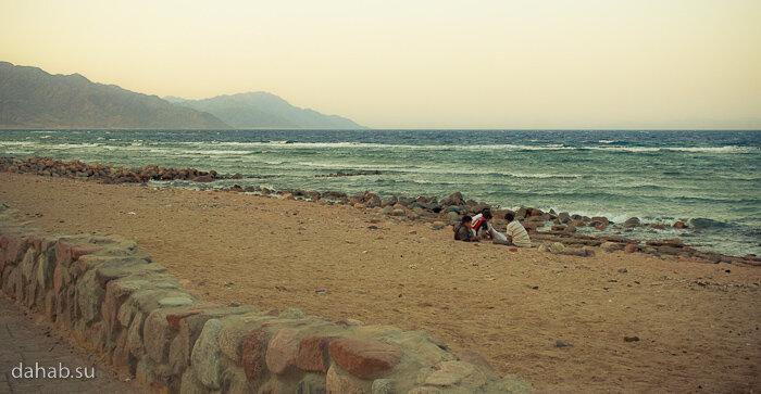 Дахаб, набережная, отели, апартаменты, фоторабота, Синай, море, закат