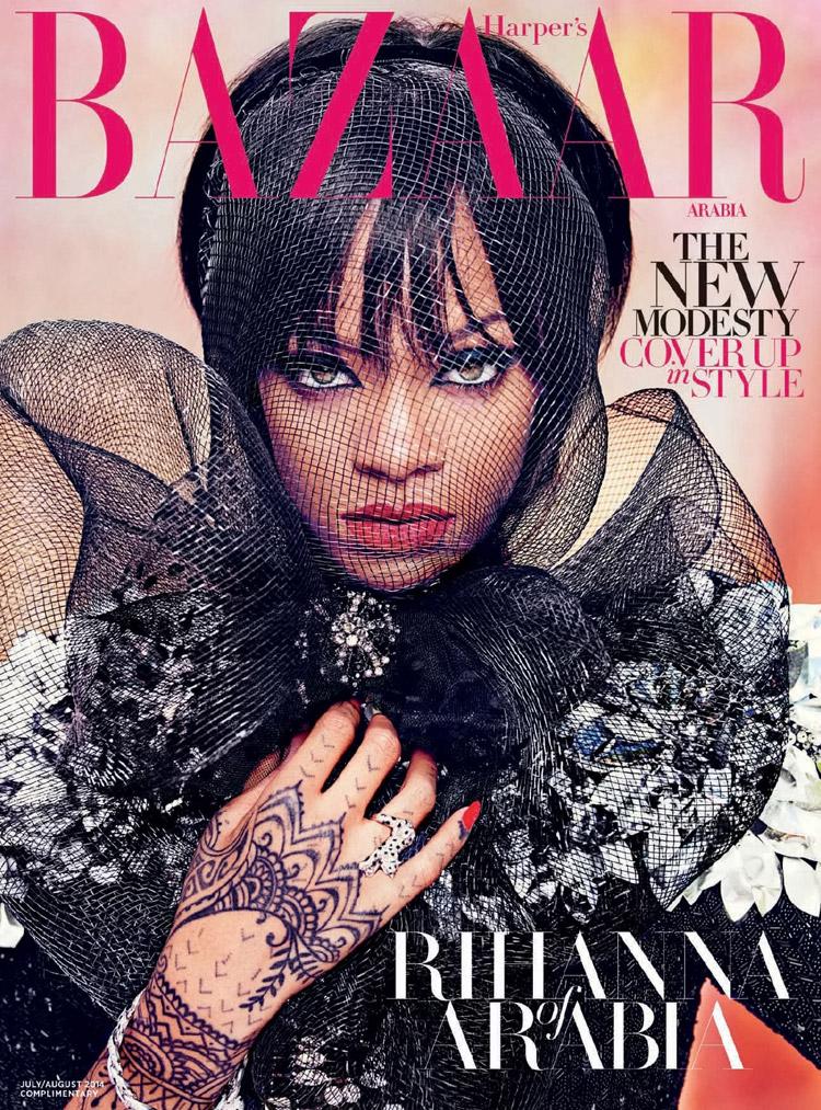 Рианна в июльском Harper's Bazaar Arabia 2014 (8 фото)