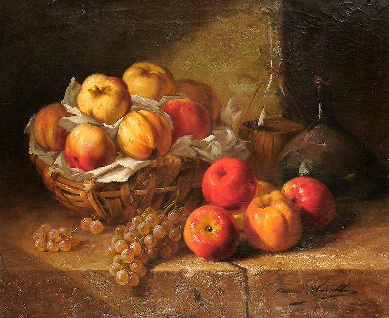 Натюрморт с фруктами на каменном выступе.jpg