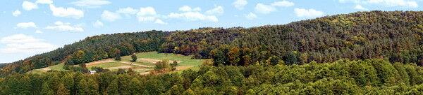 Панорама гряды Расточье