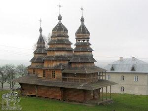 Крылос. Реконструкция деревянной церкви 16 ст