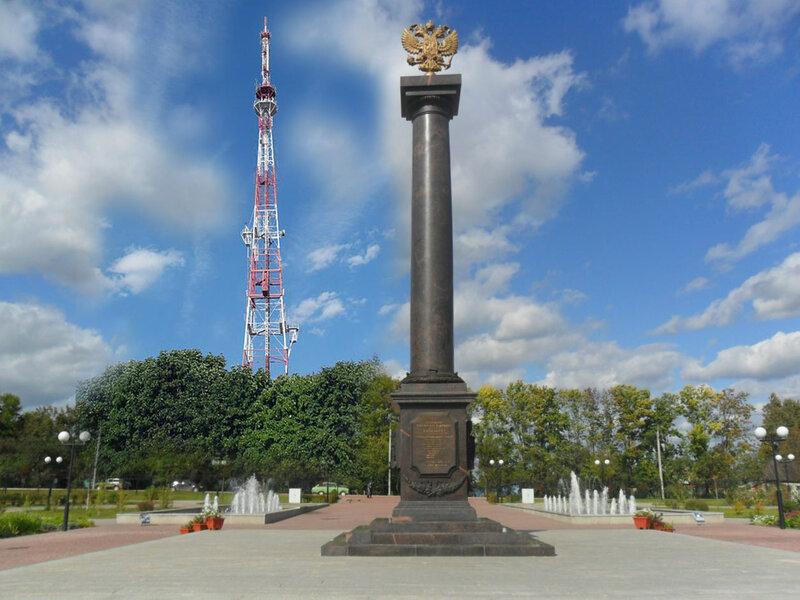 вариант стелы воинской славы в Белгороде от Sanchessa