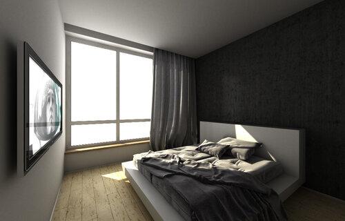 newaero, аэропорт, гостиная, дизайн, зеркало, интерьер, квартира, квартиры, кухня, люстра, половое покрыт…, прихожая, проект, спальня, VIZ_NewAero_BedRoom_Vray0001 квартира, Париж, Франция
