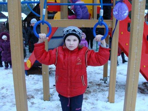 Открытие детской спортивно-игровой площадки в д. Фабрика