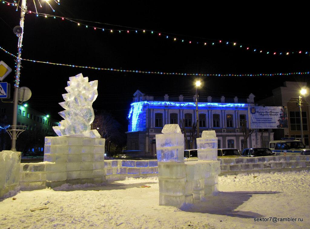 Ночной ледяной городок Троицка 2012 (Фото Троицка)