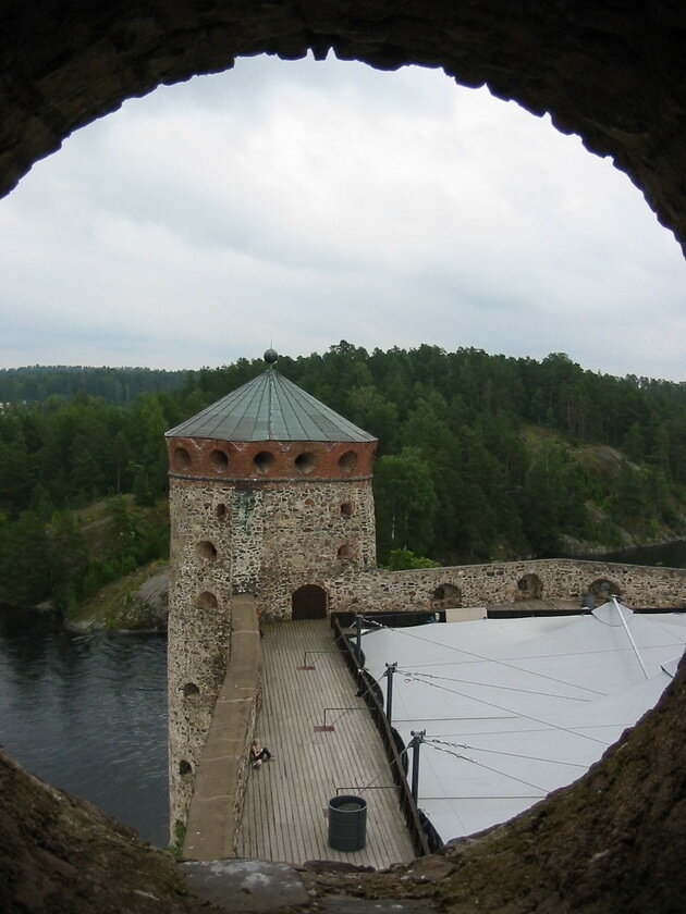 Крепость Олавинлинна (Олафсборг). Финляндия